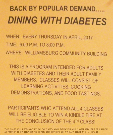 Dining with Diabetes Flyer