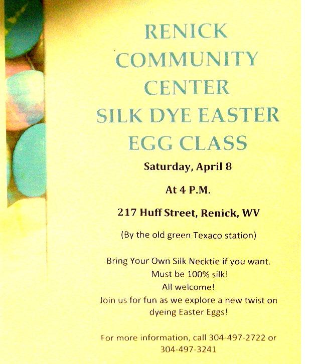 Renick Silk Dye Easter Egg Class